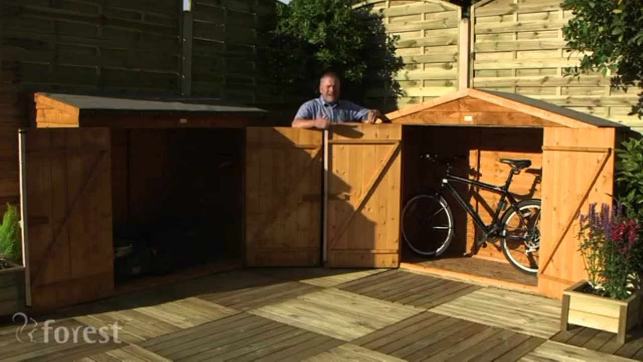 Wooden Storage And Bike Shed Youtube