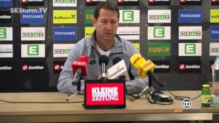 SK Sturm: Mediabriefing vor SV Seekirchen (ÖFB Cup, 2. Runde)