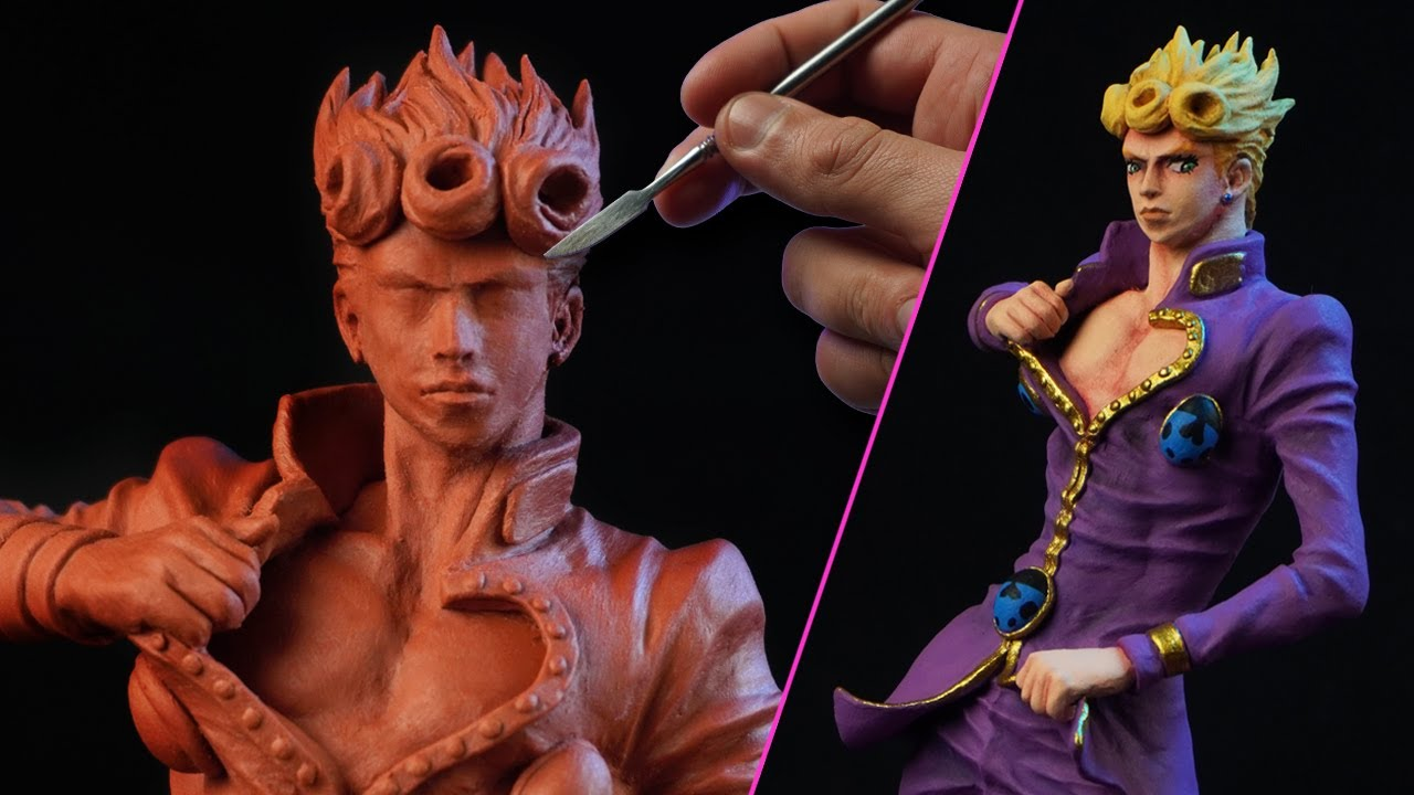 Sculpting GIORNO GIOVANNA | JoJo's Bizarre Adventure [ Golden Wind ]