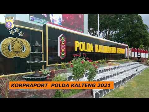 Upacara Korp Raport Polda Kalteng 2021