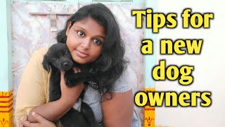 Useful Tips for new dog owner in telugu   how to take care of a new puppy in telugu