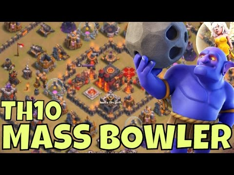 BOWLER 3 Star Strategy TIPS at TH10 [RING BASES] Clash Of Clans Attacks