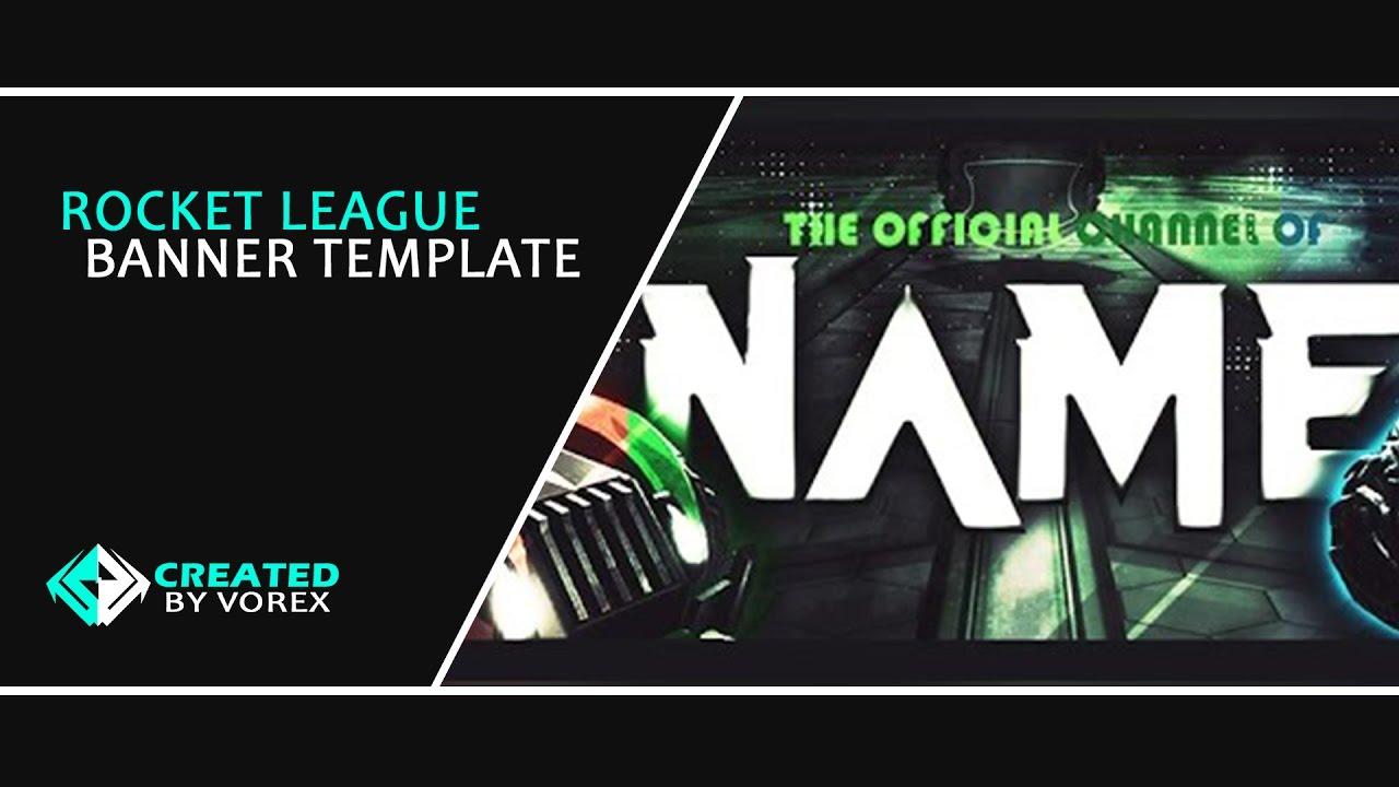 Rocket League YT Banner + Logo FREE Template || Speedart ...