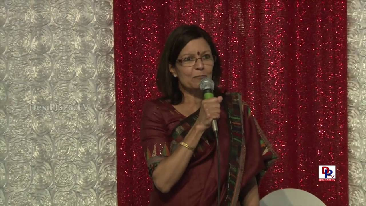 Mrs.Revathi Satyu,founder of Indian Cultural Heritage Foundation  speaking