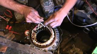 видео Как подключить электродвигатель 380 на 220 Вольт?