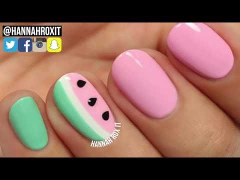 Watermelon Nail Art Tutorial by Hannah Rox It
