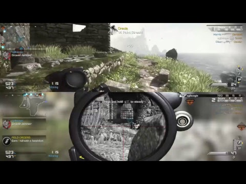 COD Ghosts Domination wth Bots only Snipers