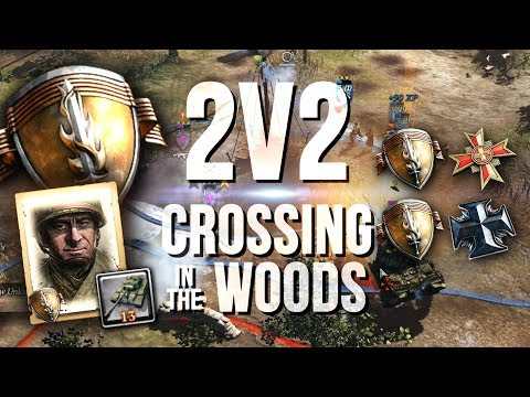 VIOLENT, NONSTOP AGGRESSION [2v2] [USF] [Crossing in the Woods] — Full Match of CoH2