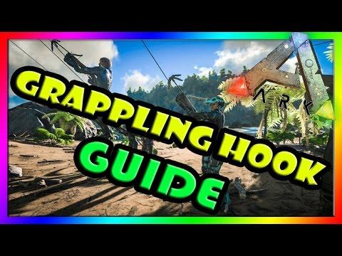 Grappling Hook Guide - ARK Survival Evolved - USING Grappling Hook - Climbing BUILDING/TREES/DINOS