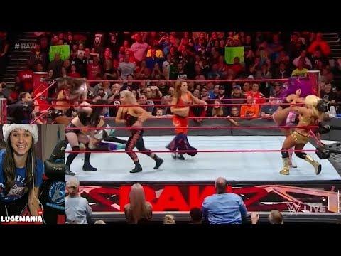 WWE Raw 12/11/17 Absolution meets the entire women Locker room