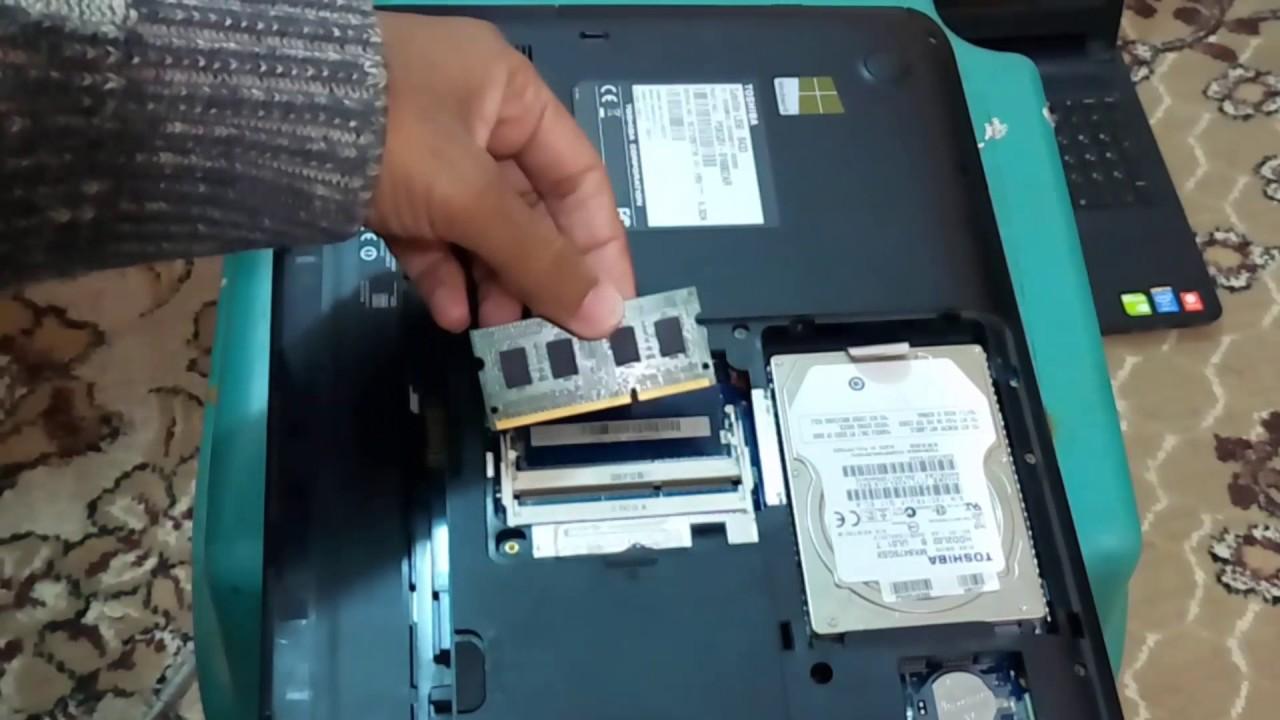 طريقة فك أو تركيب الرام RAM لأي لاب توب بطريقة صحيحة #تعلم_بنفسك