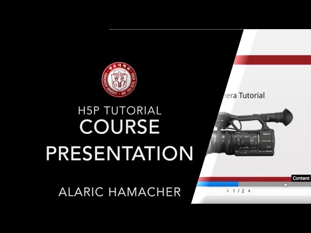 Creating Interactive Content with H5P Tutorial 1 (course presentation)