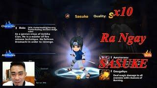 Quay x10 Được Ngay Sasuke Tư Chất S - Game Valor of Grail