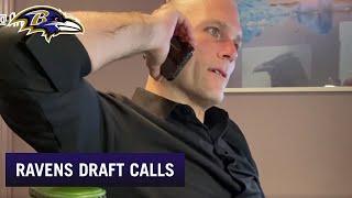 Eric DeCosta's Calls to Ravens Draft Picks | Baltimore Ravens
