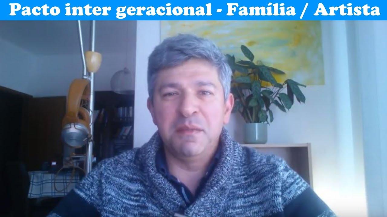 Pacto inter- geracional da família do artista