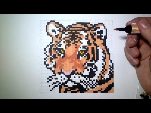 Epic Pixel Art The Tiger Youtube