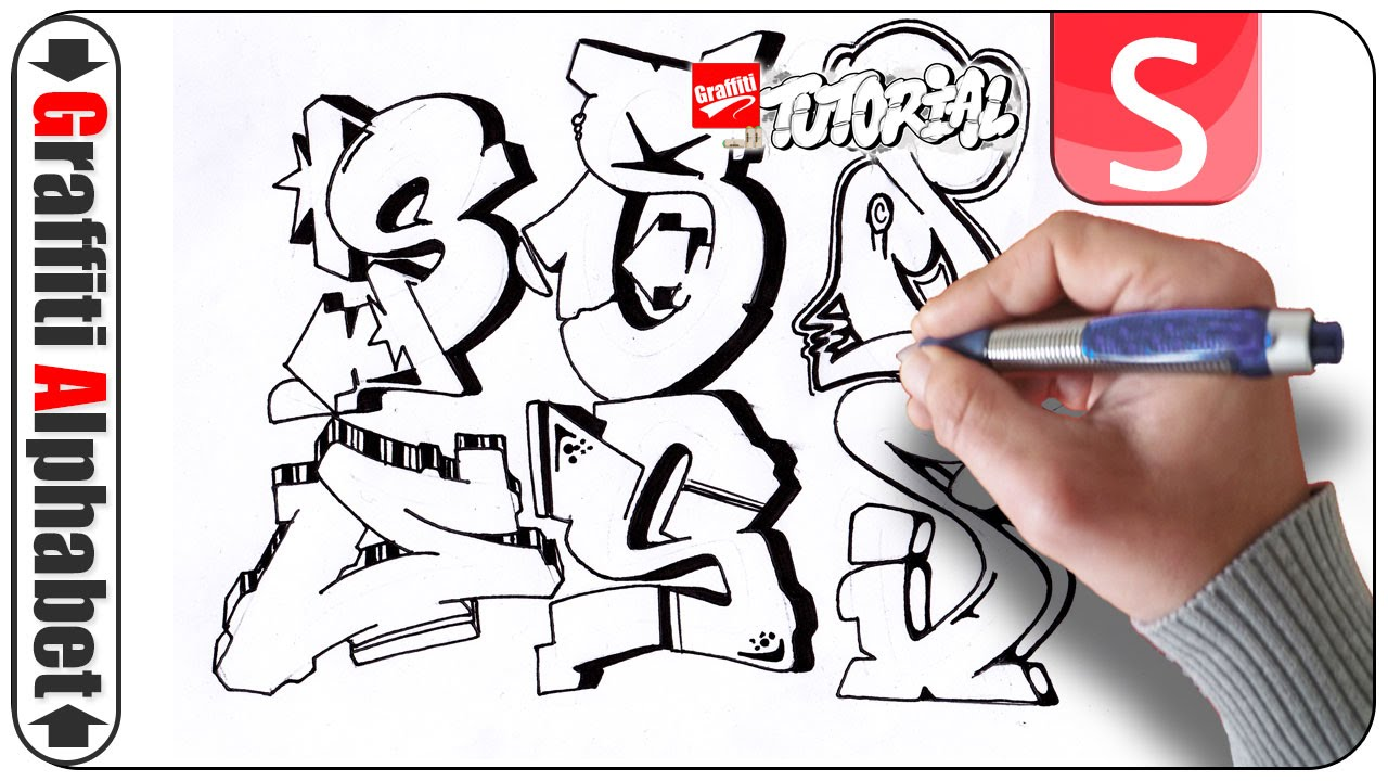 Letters Of Style Graffiti Alphabet Buchstabe S Graffiti Alphabet Graffiti Lettering Graffiti Letter S