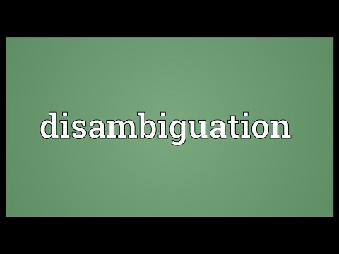 Disambiguation Meaning
