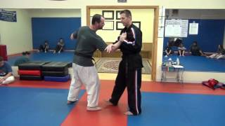 Funakoshi Karate Takedown Tsubamegaeshi / V-turning Swallow - Non-Traditional Self Defense Version