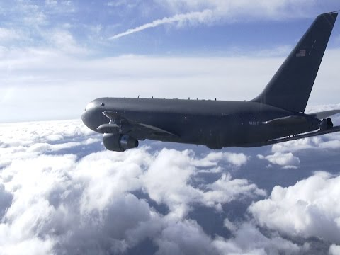 Boom Time: Boeing's KC-46 Test Plane Flies with Refueling Boom