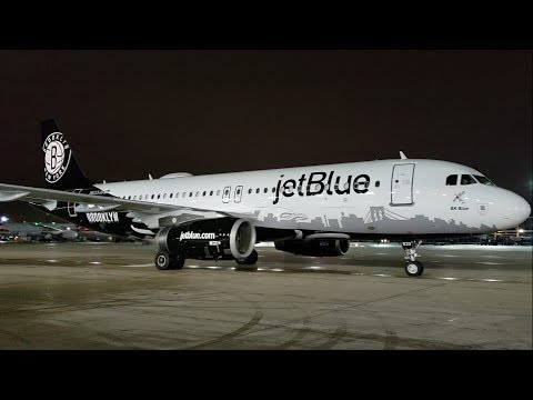 jetBlue Brooklyn Nets Livery Airbus A320 [N633JB] O'Hare Int'l Airport Gate Arrival [11.19.2018]