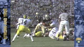1986 vs. Michigan - 125 Years of Notre Dame Football - Moment #019