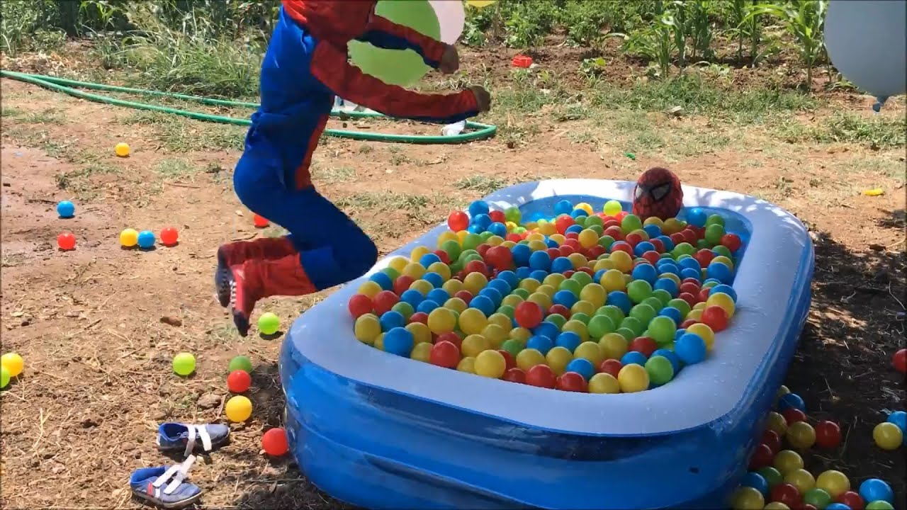 Spiderman in The POOL! Spider Child vs Spiderman Swimming POOL prank! Bad Spider Child in Real Life