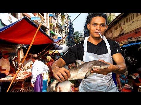 A walk through a Fresh Market in Yangon