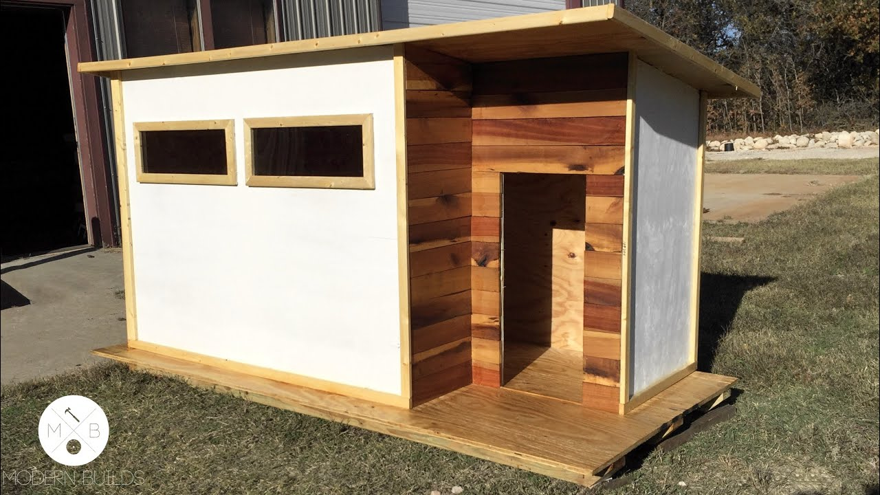 Build a modern dog house modern builds ep 14 youtube for Building a house