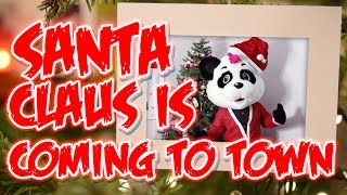 Santa Claus Is Coming To Town - Panda Party | Childrens Nursery Rhymes