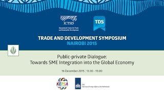TDS LIVE | Public-private Dialogue: Towards SME Integration into the Global Economy