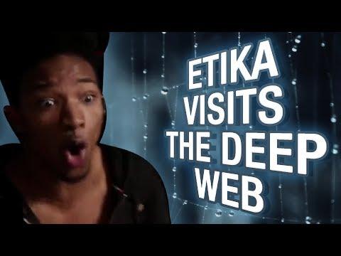 Etika Visits Deep Web Websites   EWNetwork Deep Web Highlights - Etika Reacts to the Deep Web