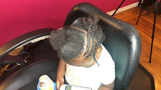 Braiding a 2 year olds Hair