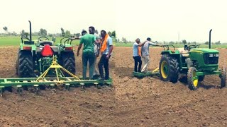 Johndeere 5210 gear pro new model demo with 15 cultivater karo check performance