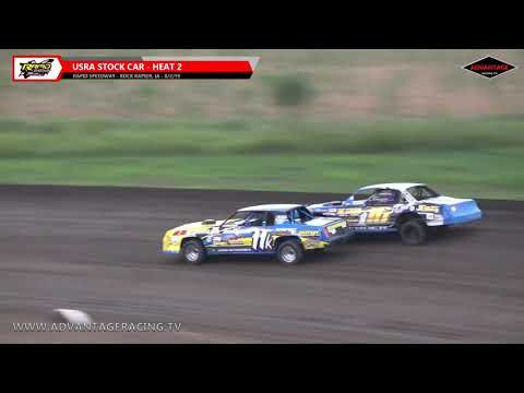 Stock Car Heats - Rapid Speedway - 8/2/19