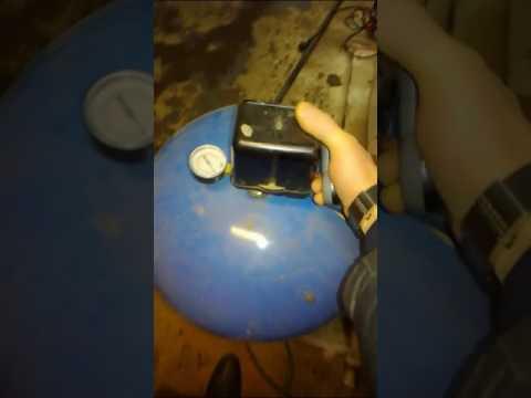 Проверка давления в гидроаккумуляторе