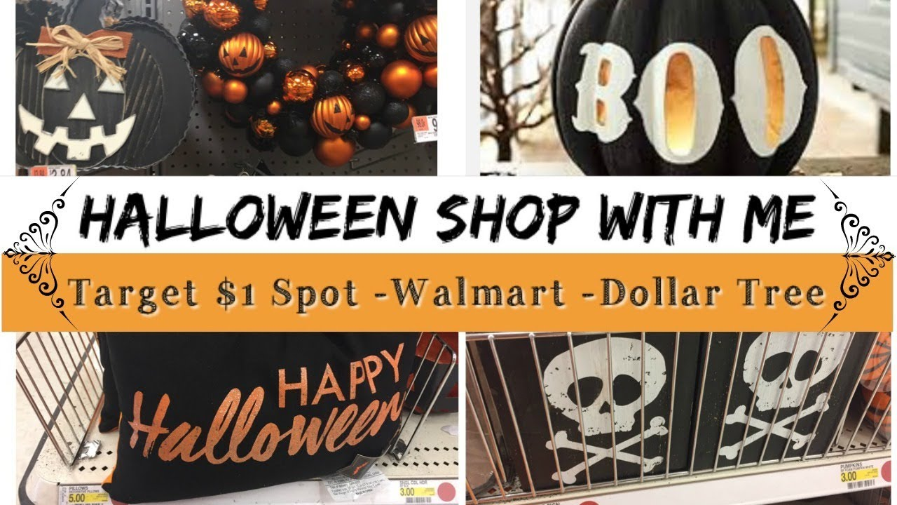 shop with me halloween decor target dollar spot dollar tree walmart - Target Halloween Tree