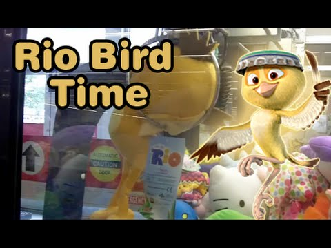 Three Rio Birds plus Hello Kitty - Claw Machine Wins