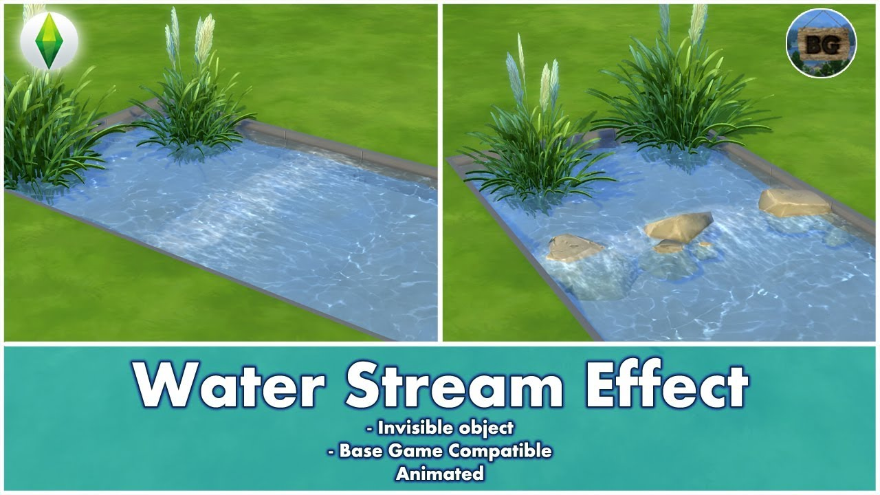 Bakies The Sims 4 Custom Content Animated Water Stream