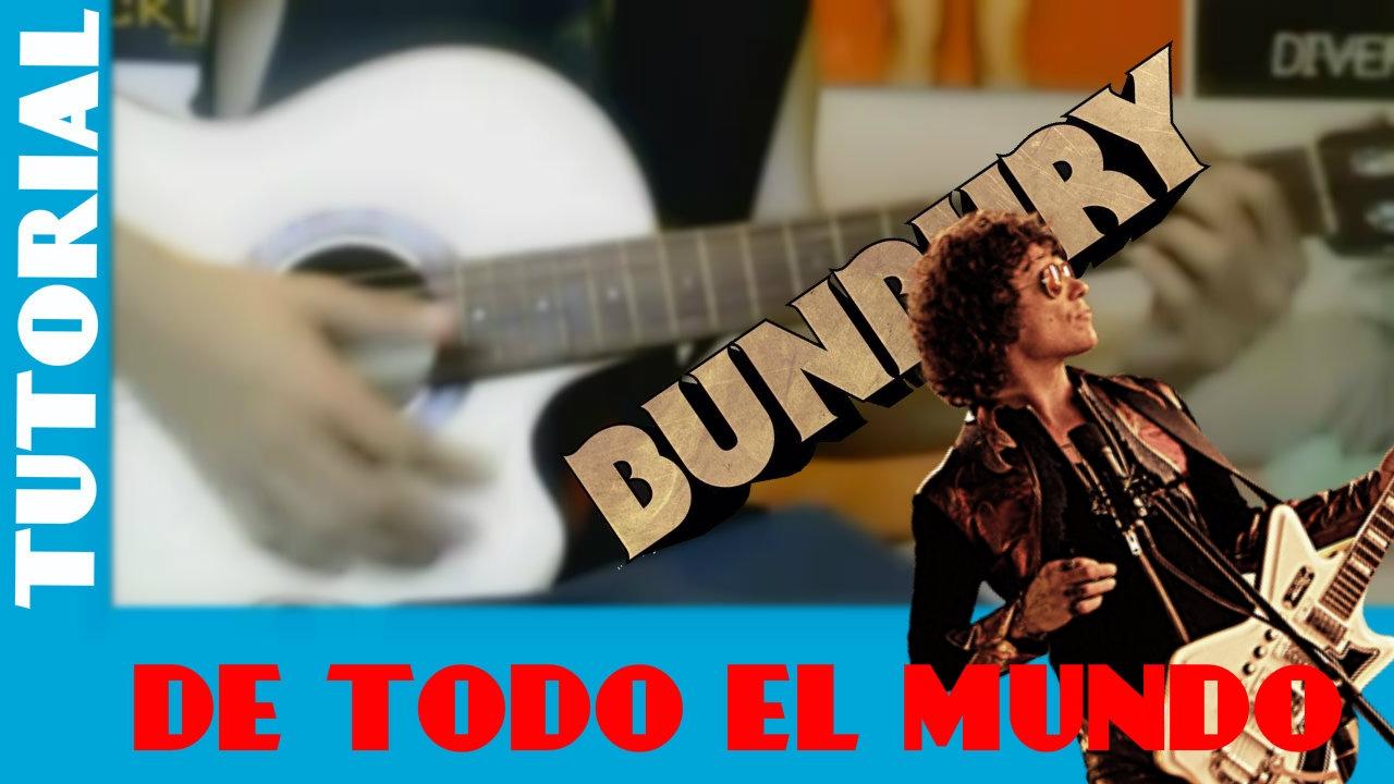 Como Tocar DE TODO EL MUNDO de ENRIQUE BUNBURY    Tutorial Facil para  Guitarra