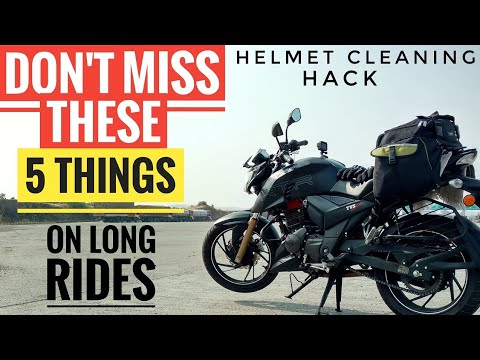 5 MUST CARRY ONS FOR LONG DISTANCE RIDING | PREPARATION FOR LONG RIDES | QUICK HELMET CLEANING HACK