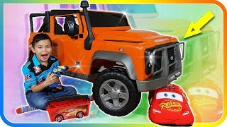 Unboxing New Power Wheels Land Rover Defender with Lightning McQueen ToolBox Set - TigerBox HD
