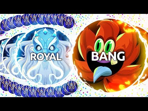 BANG & ROYAL TRY THE NEW AGAR.IO UPDATE! (Agar.io Uncut)