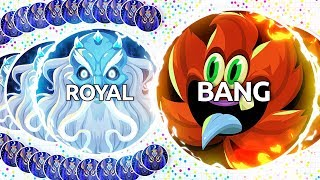 BANG & ROYAL TRY THE NEW AGAR.IO UPDATE! (Agar.io Uncut)