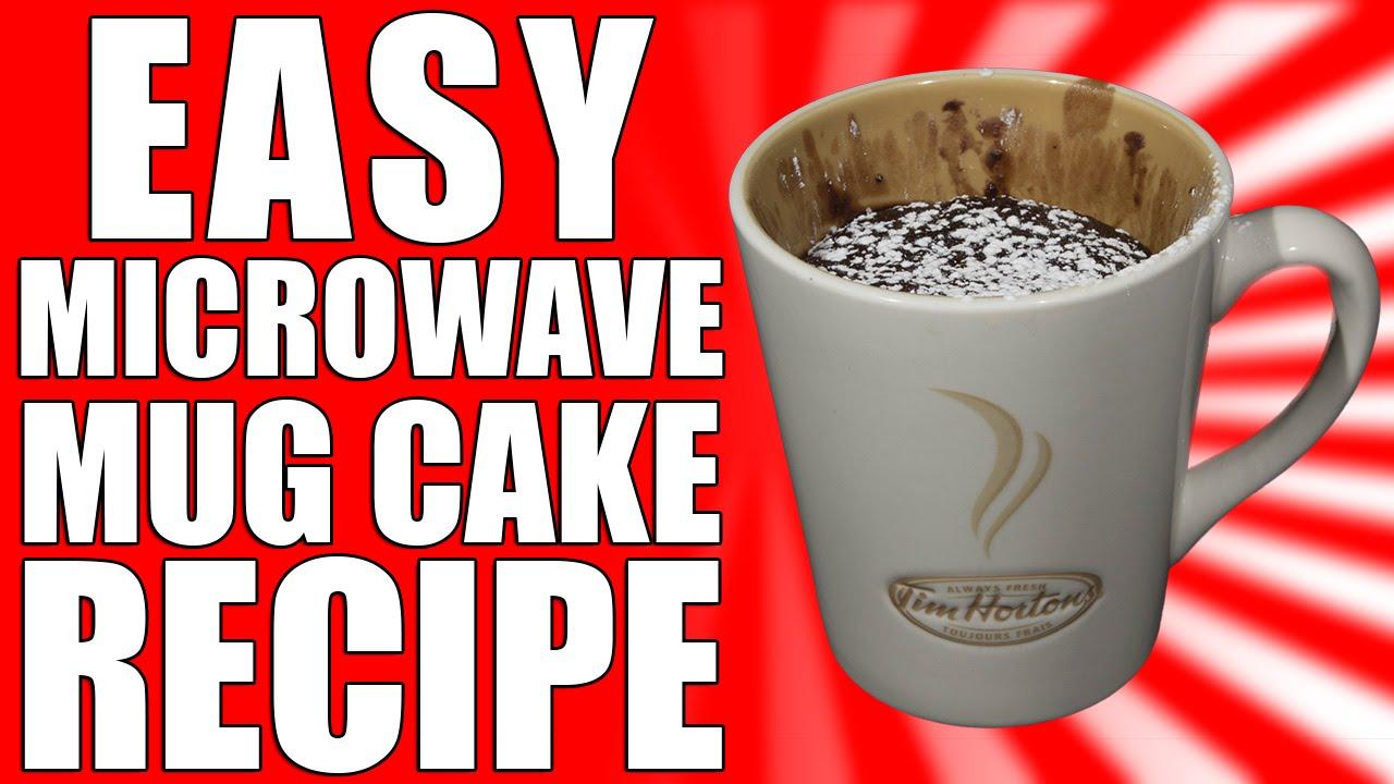 EASY Microwave Chocolate Mug Cake Recipe - YouTube