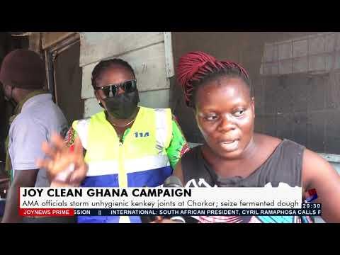 AMA officials storm unhygienic Kenkey joints at Chorkor - Joy News Prime (14-7-21)