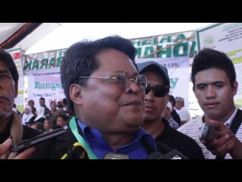 Moro National Liberation Front Spokesperson and Legal Adviser Emmanuel Fontanilla