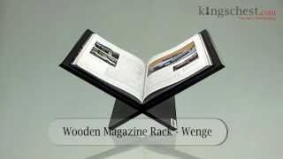 Wooden Magazine Rack - Wenge