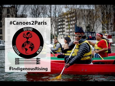 Historic Kayak Action demands Indigenous Peoples Rights in Paris Climate Accord | #Canoes2Paris