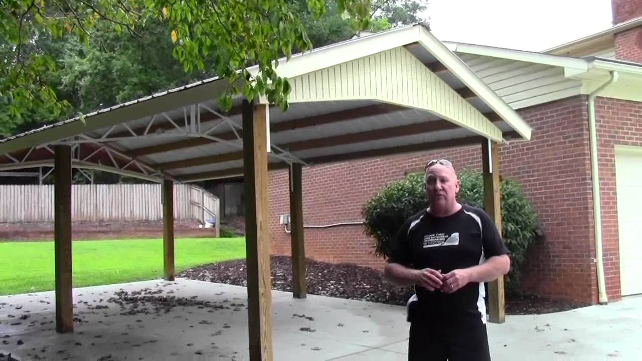 Dachkonstruktion Carport Steel Trusses Carports, Garages, And Sheds - Youtube